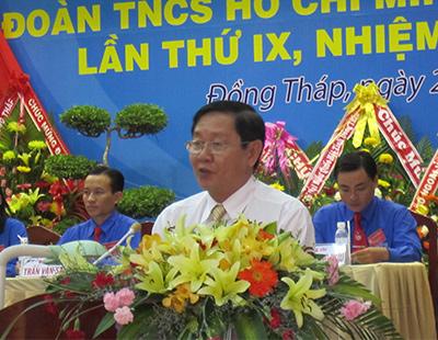 Bí thư Tỉnh uỷ Lê Vĩnh Tân phát biểu tại phiên bế mạc Đại hội.