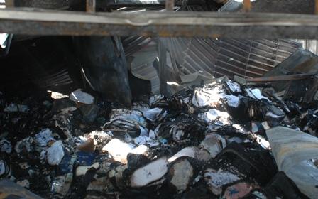 Hồ sơ giáo viên và học bạ của học sinh bị cháy