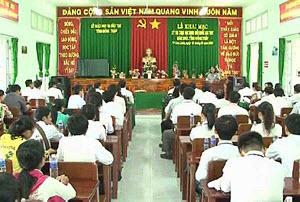 Lễ khai mạc kỳ thi HSG quốc gia tại trường THPT Thiên Hộ Dương
