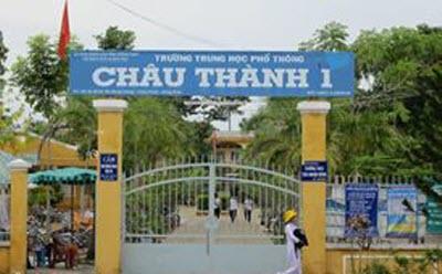 Cổng trường THPT Châu Thành 1
