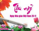 Thư ngỏ gửi nhà giáo Đất Sen hồng nhân ngày Nhà giáo Việt Nam